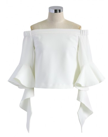 Fashioncircuz by Jenny bluse-chicwish OFF SHOULDER TOP & CROSSBODY BAG